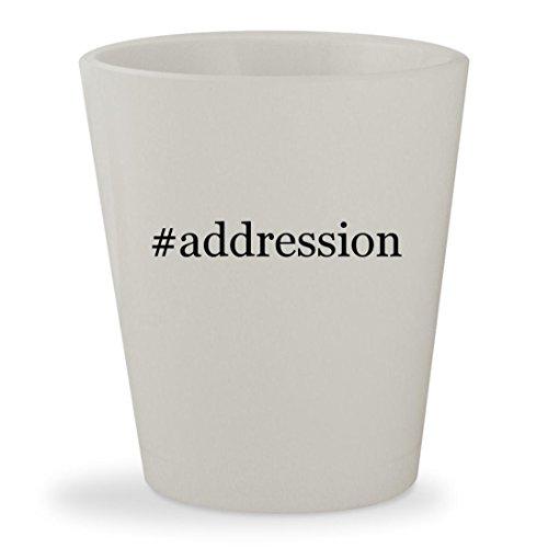 #addression - White Hashtag Ceramic 1.5oz Shot - Free Billing Address Us