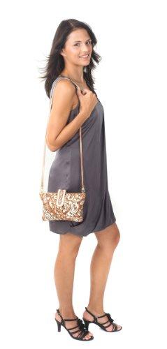 Zimbelmann Handtasche / Damentasche aus echtem Leder - Nappaleder - handbemalt - Diana Milla