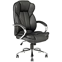 High Back PU Leather Executive Office Desk Task Computer Chair w/Metal Base O18B