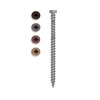 Simpson Strong Tie DDX212RD01MB Number-9 2-1/2-Inch Red 01 Dexxter Composite Decking Screw