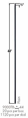 9000TB Satin Black Plain Square Bar Tubular Steel - Box of 15 (Square Tubular Steel)