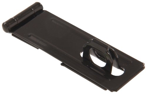 Hillman Hardware Essentials 852760 Fixed Staple Safety Hasp Black 4-1/2