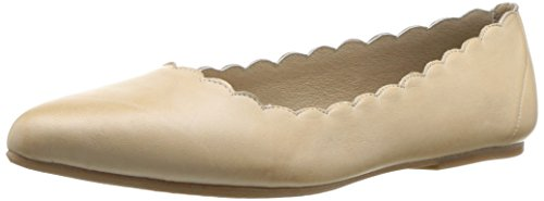Miz Mooz WoMen Bailey Ballet Flat, Black, Medium Cream
