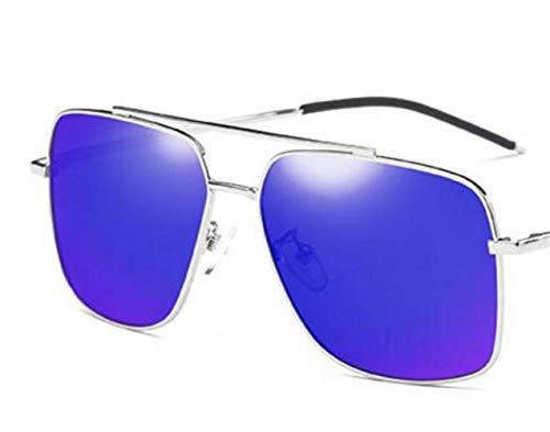Hombres azul Moda Huyizhi viajar Silver UV400 Gafas al de sol sol Marco plata de aire color Conducción Mujeres Lente polarizadas para libre Protección Guay Gafas de CCwtzqr45x