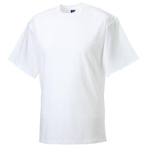 - Russell Europe Mens Workwear Short Sleeve Cotton T-Shirt (2XL (44-46