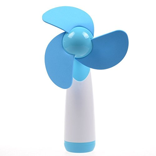 Welltop Handheld Mini Fan Super Mute AA Battery Operated Cooling Fan Soft Foam Blades Electric Personal Fans for Home and Travel -