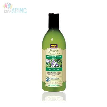 Avalon Organics Bain & Gel douche, Rosemary, 12 onces