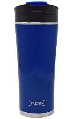 16 Oz Commuter Tumbler - MyBevi Stainless Steel Tumbler (16 oz Deep Blue, 16 oz)