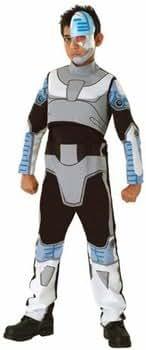 Comic Book Super Heroes Kids Costume Teen Titans Cyborg (Child-Small Size) #18042