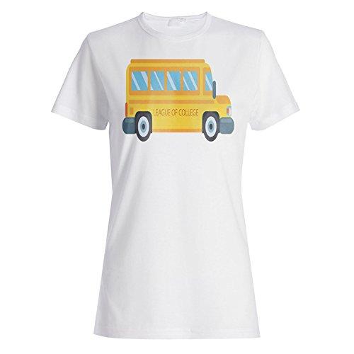 Autobús Del Colegio Amarillo Ee.Uu. camiseta de las mujeres m905f
