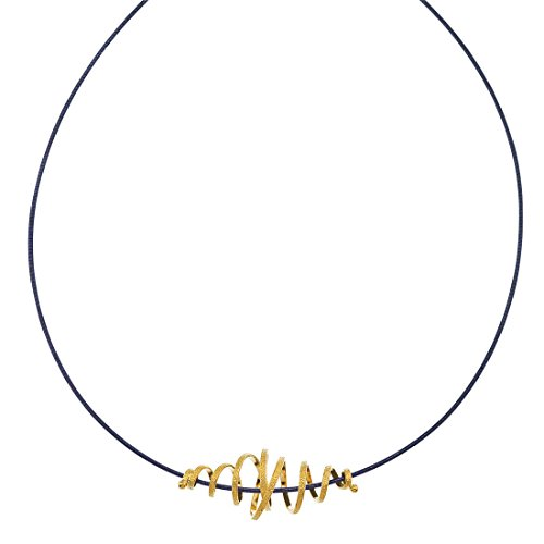 22K Vermeil & Oxidized Silver Necklace by AX Jewelry