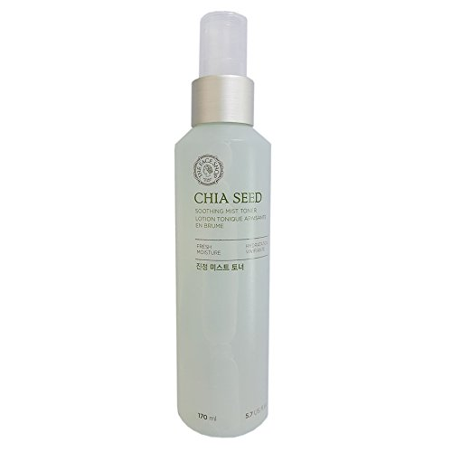 [The Face Shop Chia Seed Soothing Mist Toner ( 170ml ) / 2016 New Renewal] (Moisture Mist Hydrating Toner)