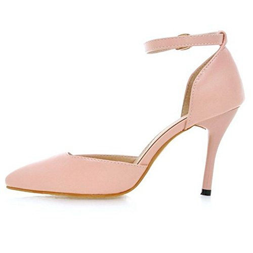 Elegant Thin Heel Women Court Shoes with Small and Large Size Leisure Sandals for Working and Parties UK 0-UK 10.5 Pink Bq3nHXdtc