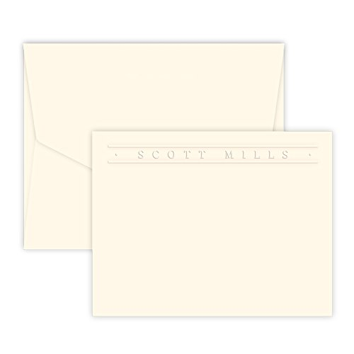 Premium Personalized Embossed Stationery Flat Cards (Embossed Flat Card)