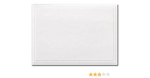 Embossed blank notecards