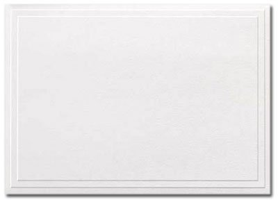 triple embossed white note cards and envelopes 50pack - Embossed Note Cards