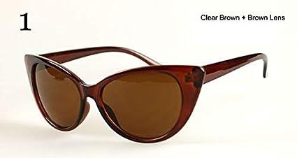 Amazon.com : GNLLYOP Vintage Cat Eye Sunglasses Women Luxury ...