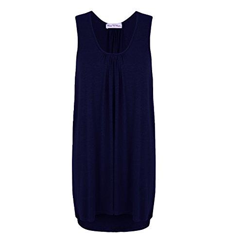 MISS n MAM - Camiseta sin mangas - para mujer azul marino