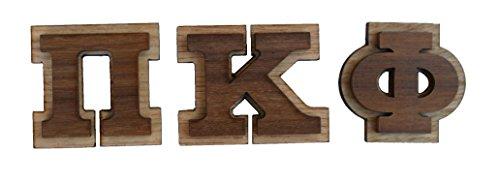 Pi Kappa Phi Double Raised Wood Greek Letter 1 1/2