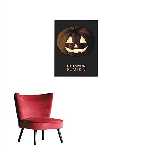longbuyer Poster Wall Decor Halloween Pumpkin Vector Polygon Mural 32