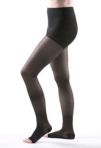 Allegro 15-20 Essential 14 Sheer Support Open Toe Compression Pantyhose