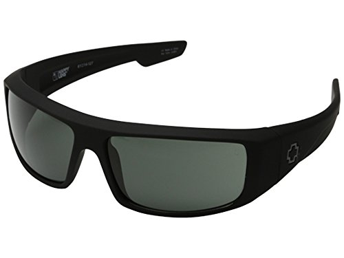 Spy Optic Logan Sunglasses Matte Black with Grey Green Lens