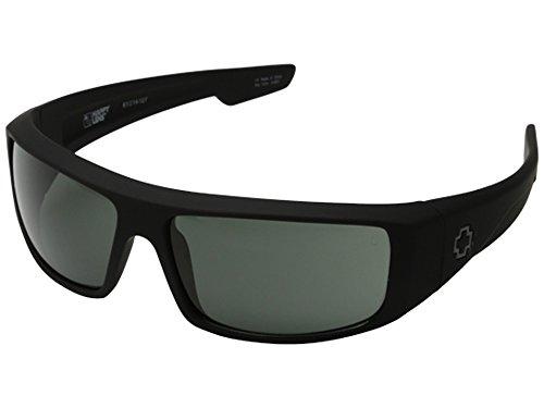 Spy Optic Logan Sunglasses Matte Black with Grey Green - Spy Optic Sunglasses Logan