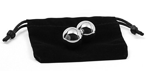 Premium Silver Grey Steel Ben Wa Balls, 3/4 Inch, Medium