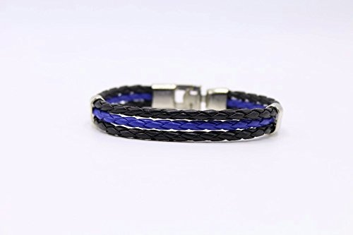 Home & Garden Buckles & Hooks Blue Leatherthin Blue Line Paracord Bracelet Usa America Support Lives Police Matter Survival Bangle Bracelet Fixing Prices According To Quality Of Products