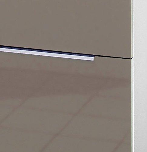 Berlenus CT4BB Meuble Bas de Cuisine avec 3 Tiroirs Blanc Haute Brillance 40 x 52 x 83 cm