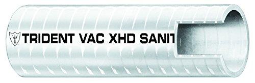 Trident Marine Hose (Trident Marine 148-1126 Vinyl VAC XHD Sanitation Hose, 28 psi Maximum Pressure, 50' Length x 1 1/2