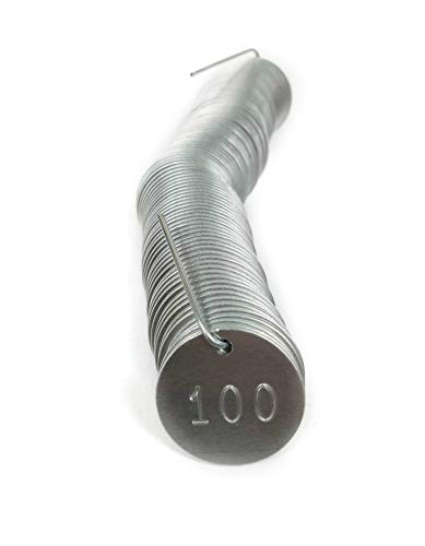 (Numbered Aluminum Tags - Pick Your Set of 100, 500 or 1,000 (Number Options 1-1000))