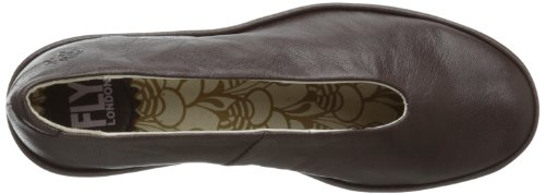Fly London Yaz - Zapatos de piel con cuña para mujer Marrón (Braun (Dunkelbraun))