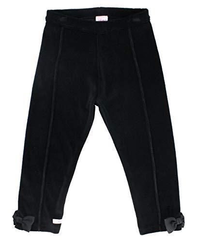 RuffleButts Little Girls Black Velour Ponte Pants - ()