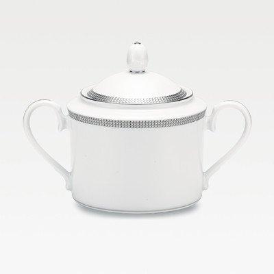 Pembroke Sugar Bowl with Lid Color: Platinum Band