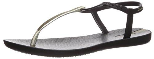 Women's Sandal Flat Ipanema Gold Bandeau Black dqtwOS