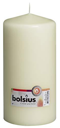 Bolsius Pillar Candle Single 200mm Ivory - 103617630105 (Candle 4x8 Pillar)