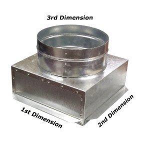 C-Box HVAC Plenum Ceiling Box 14 x 14 x 14 Round-Connects to Vent Register Diffuser