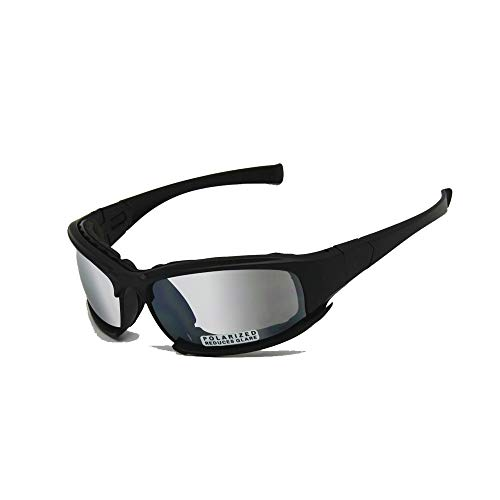 Transition Polarized Daisy One X7 Army Sunglasses Military Goggles 4 Lens Kit Tactical Goggles (black, Transition Polarized)