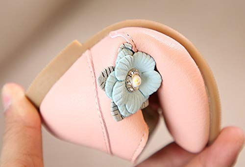 Newborn Weave Casual Baby Slip Anglewolf Pink Sole Kid Leather Soft Sneakers Sweet Girls Princess Pu Bowknot Cute Crib Boys Flower Student Boots Infant Shoes Anti Zip Children Solid CXCxqwH7v
