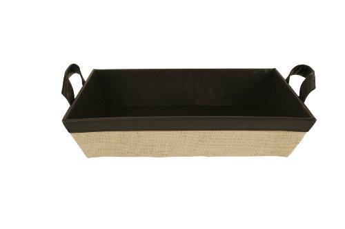 Wald Imports Black & Beige Faux Leather & Canvas 14.5
