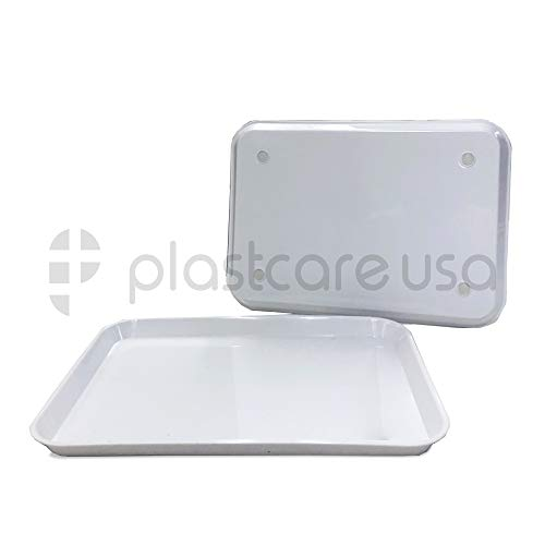 Dental Autoclavable Plastic Instrument Set Up Trays, 13 1/4 x 9 3/4, Size B (1, White)