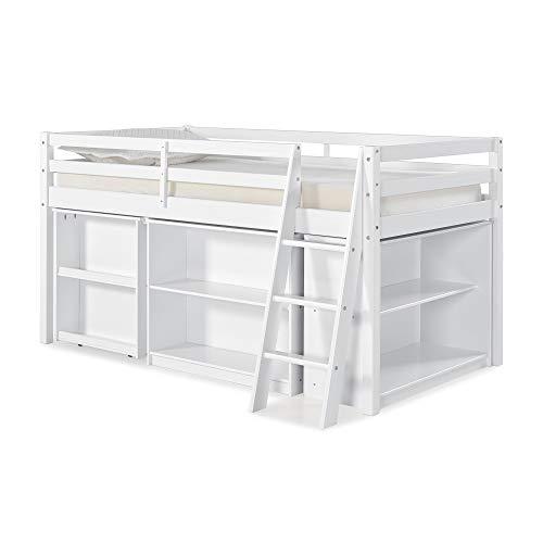Alaterre AJRX10WHA S Roxy Junior Loft Bed with Pull-out Desk Twin Storage, White