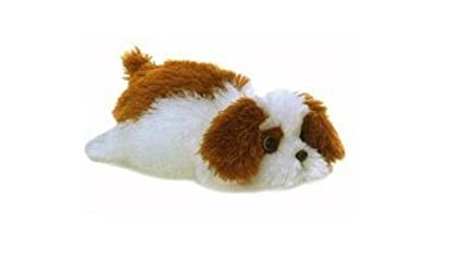 ca2e6981aaa Amazon.com  Murphy the Brown and White Stuffed Dog by Aurora  Toys ...