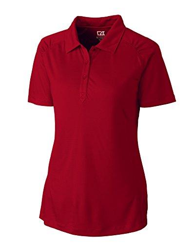 Cutter & Buck LCK02563 Women's CB DryTec Northgate Polo Cardinal Red (Cutter Buck Golf Clothing)