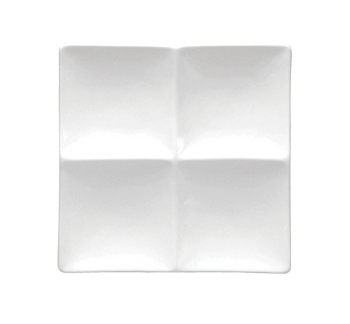 (Oneida Foodservice F8010000946 Bright White 4 Compartment Platter 9 7/8In (Set of 12))