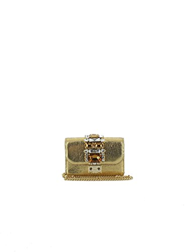GEDEBE FEMME MINICLIKYGOLDLAME OR CUIR POCHETTE