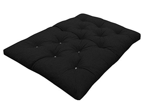 Black Double   190cm x 125cm My Layabout Foam Crumb Futon Mattress   Roll Out Guest Bed   10 Colours   3 Sizes. (Double   190cm x 125cm, Grey)