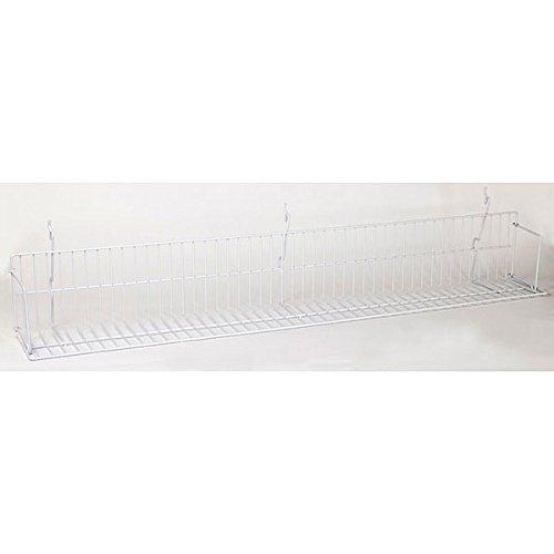 Box of 10 New White Video shelf Fits Slatwall, Grid, Pegboard 46''w