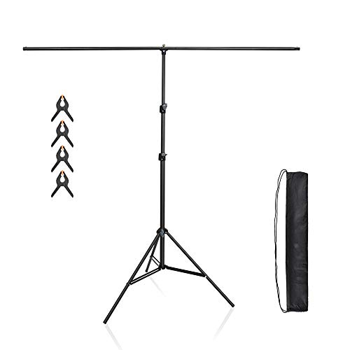 Utebit 7ft Tall X 5ft Wide 2m X 1 5m Photography T Shaped Backdrop Stand Support System Kit Background Tripod For Buy Online In French Guiana At Frenchguiana Desertcart Com Productid 119198054